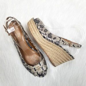 Coach Ferry Wedge Espadrille  Snake Heels